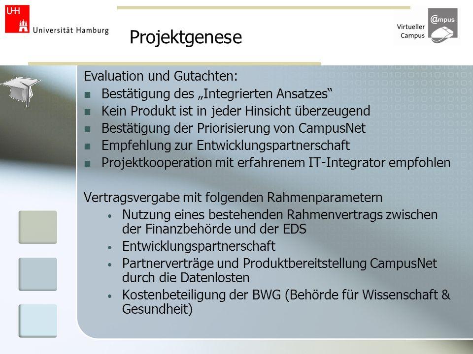 Projektgenese Evaluation und Gutachten: