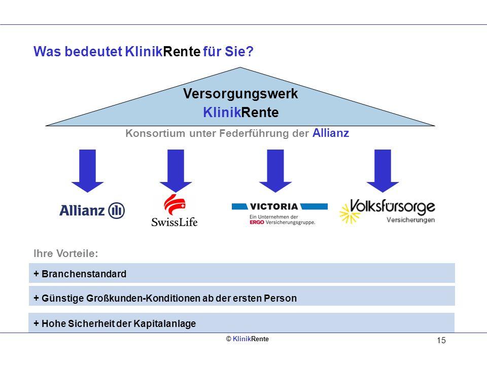 Konsortium unter Federführung der Allianz