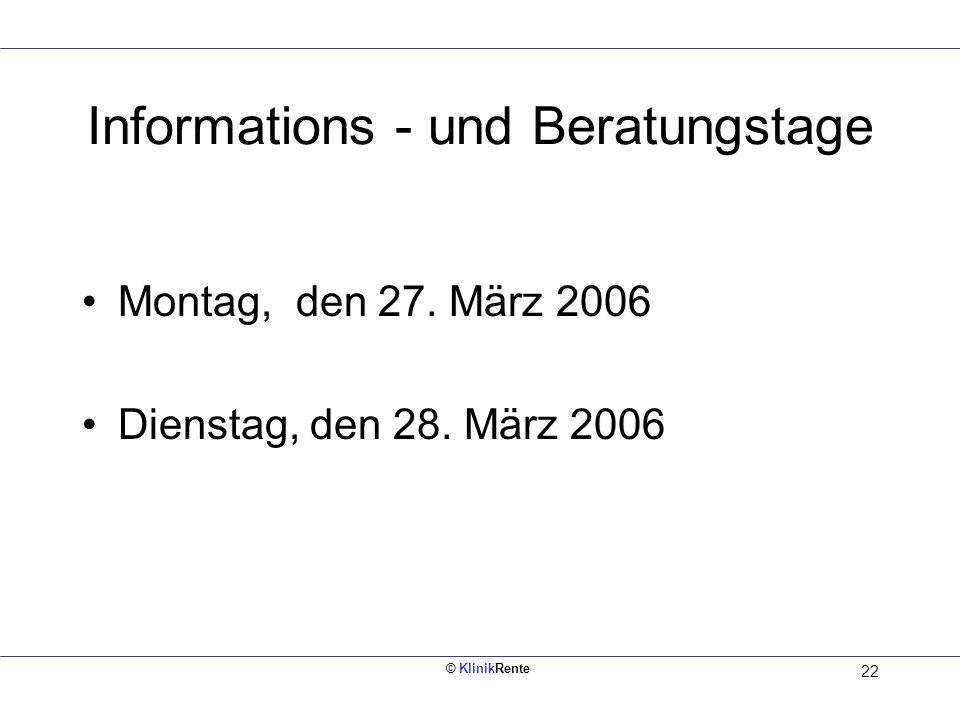 Informations - und Beratungstage