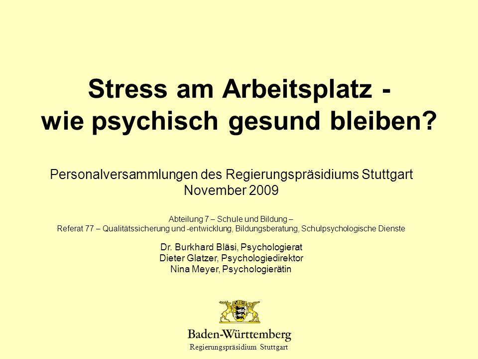 Stress am Arbeitsplatz - wie psychisch gesund bleiben