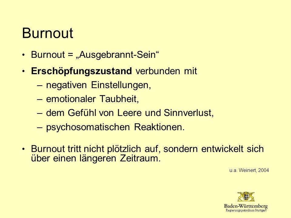"""Burnout Burnout = """"Ausgebrannt-Sein Erschöpfungszustand verbunden mit"""