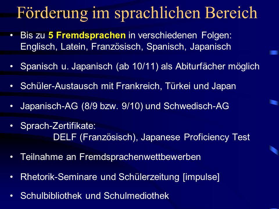 Förderung im sprachlichen Bereich
