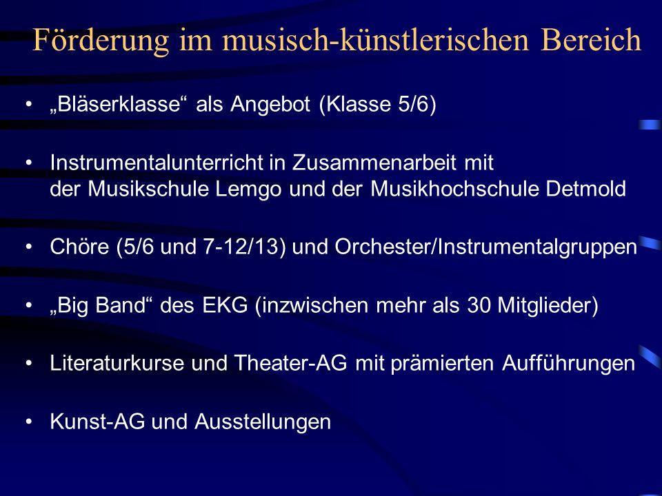 Förderung im musisch-künstlerischen Bereich