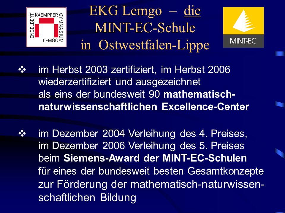 EKG Lemgo – die MINT-EC-Schule in Ostwestfalen-Lippe