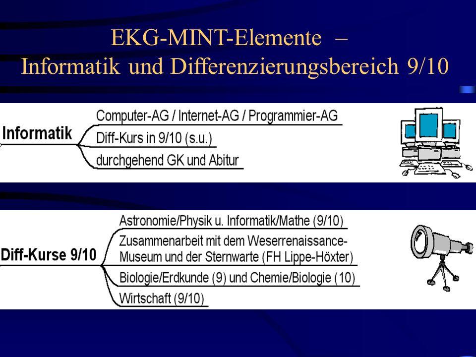 EKG-MINT-Elemente – Informatik und Differenzierungsbereich 9/10