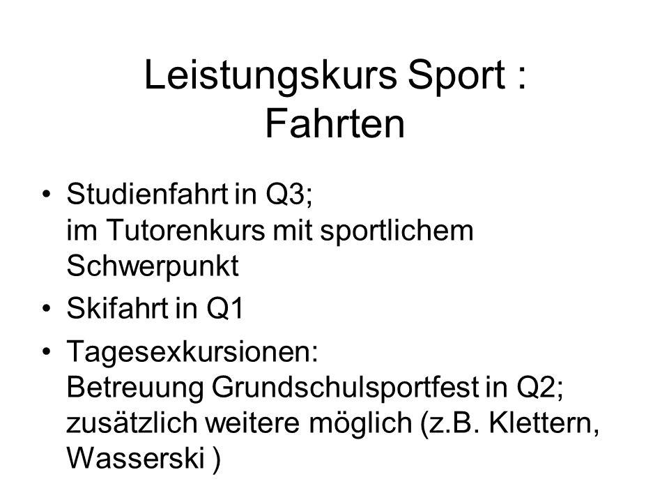 Leistungskurs Sport : Fahrten