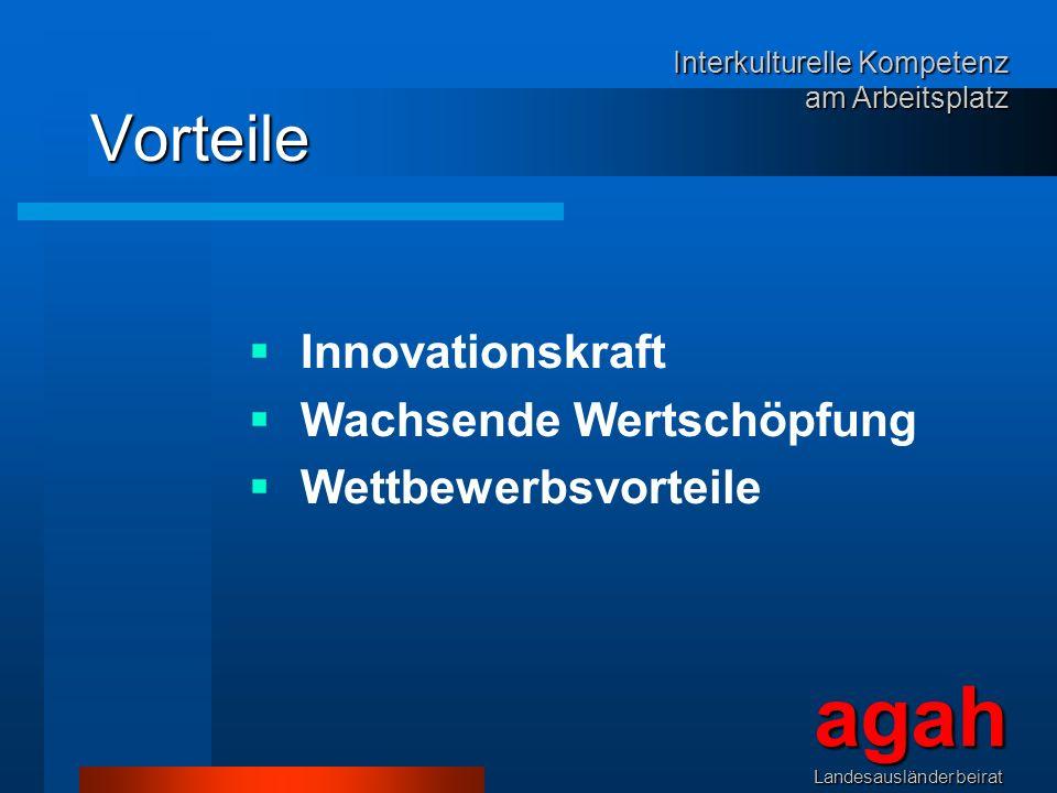 agah Vorteile Innovationskraft Wachsende Wertschöpfung