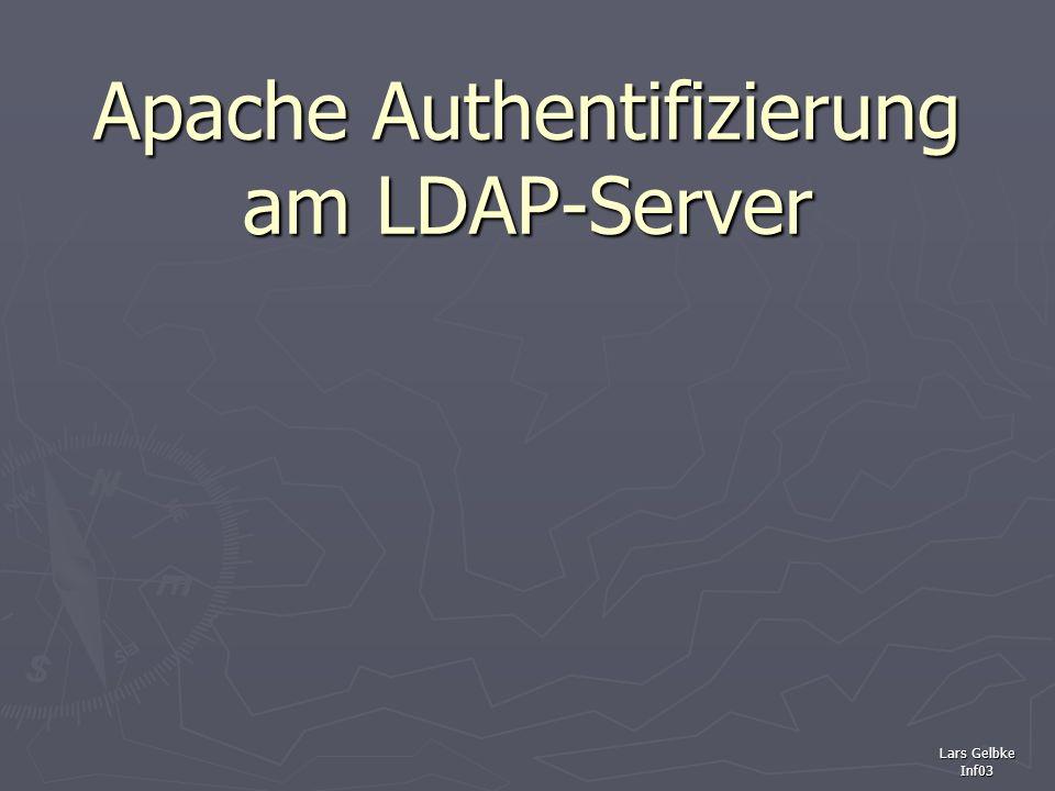 Apache Authentifizierung am LDAP-Server