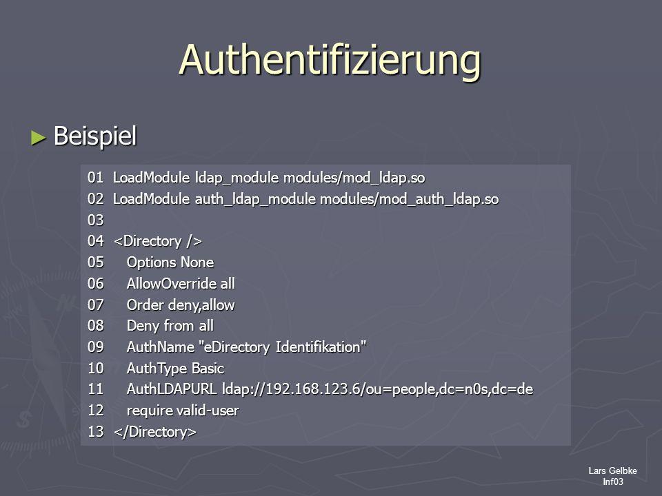 Authentifizierung Beispiel