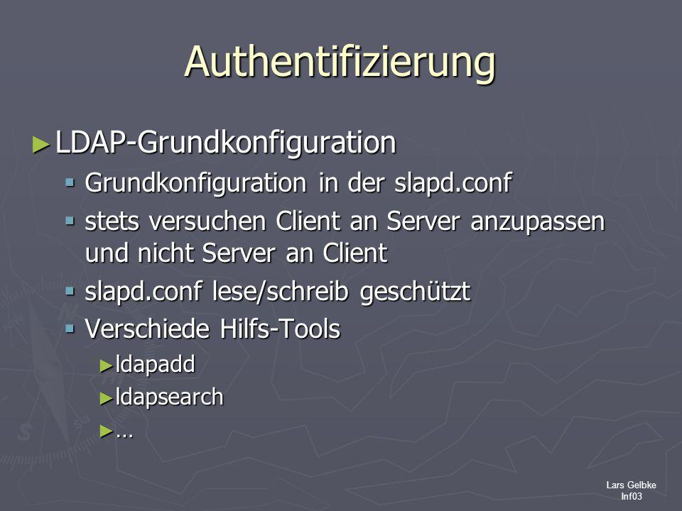 Authentifizierung LDAP-Grundkonfiguration