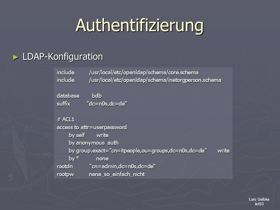 Authentifizierung LDAP-Konfiguration