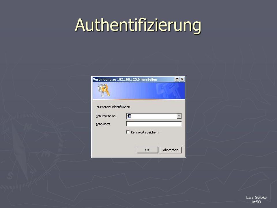 Authentifizierung Lars Gelbke Inf03