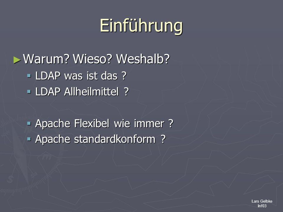 Einführung Warum Wieso Weshalb LDAP was ist das