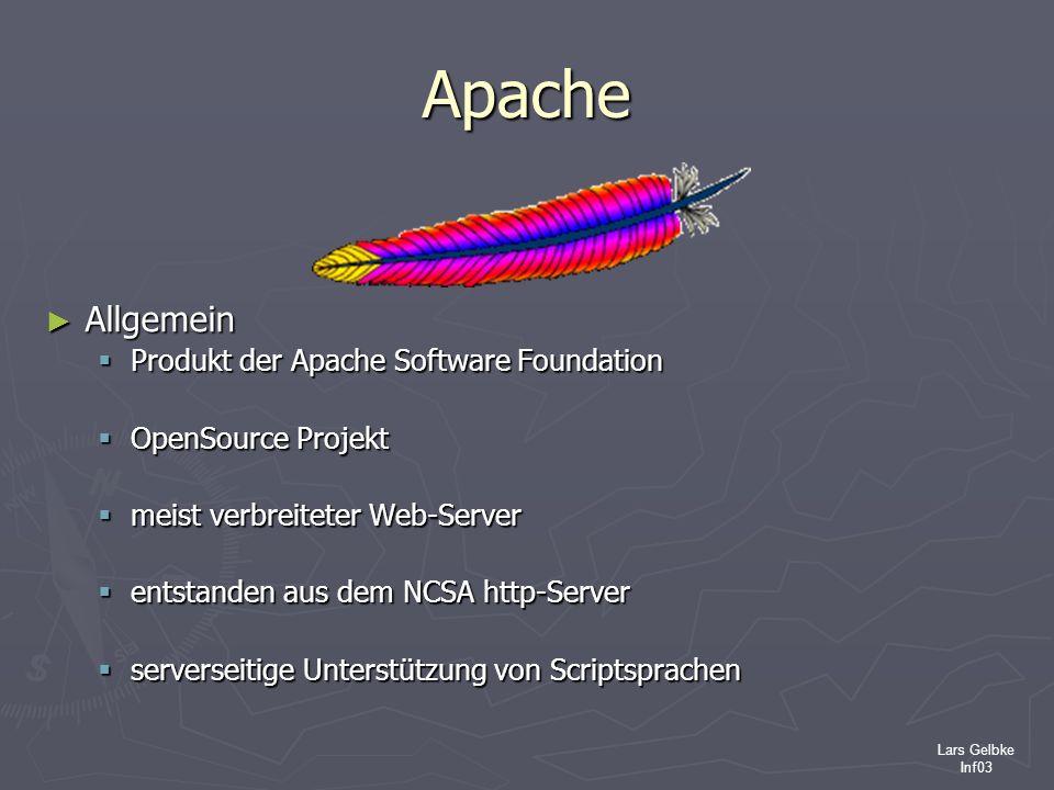 Apache Allgemein Produkt der Apache Software Foundation
