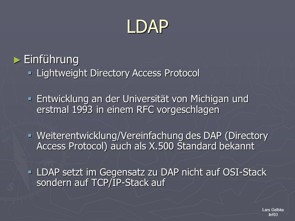 LDAP Einführung Lightweight Directory Access Protocol