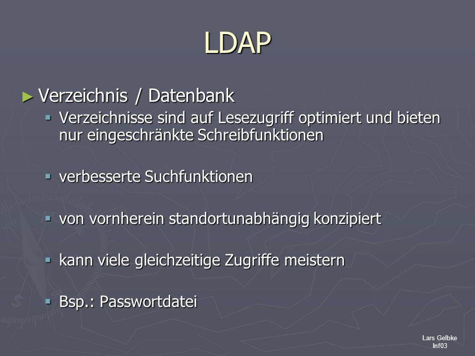 LDAP Verzeichnis / Datenbank