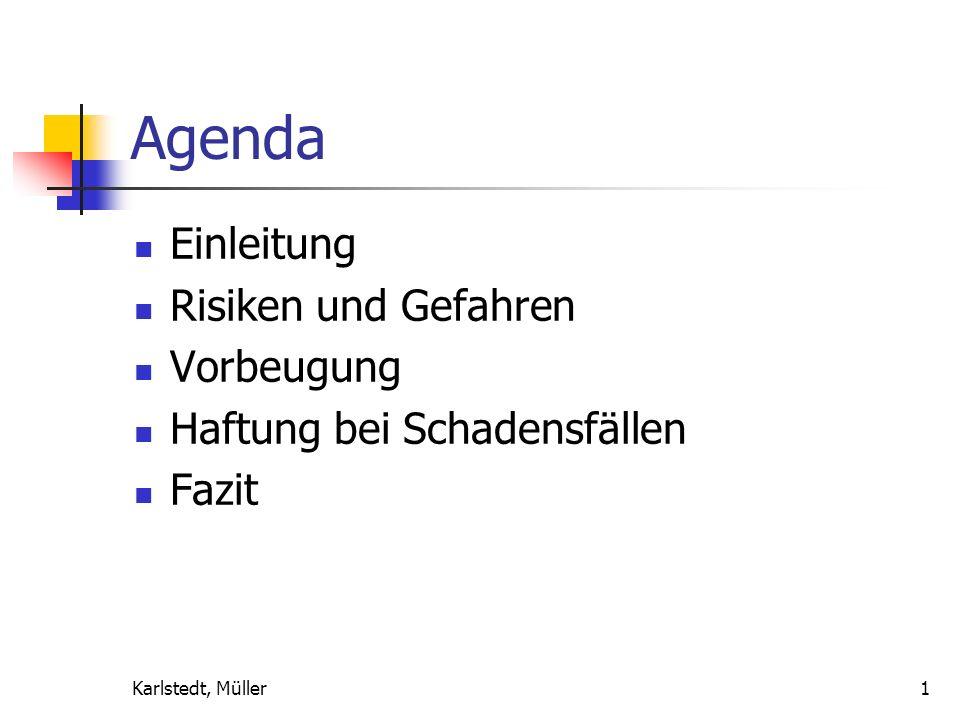 Agenda Einleitung Risiken und Gefahren Vorbeugung