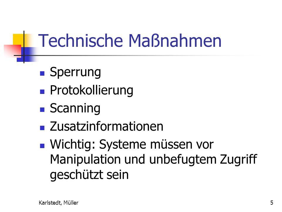 Technische Maßnahmen Sperrung Protokollierung Scanning