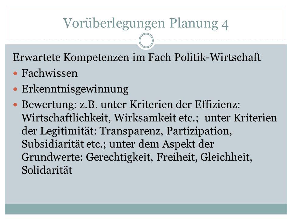 Vorüberlegungen Planung 4