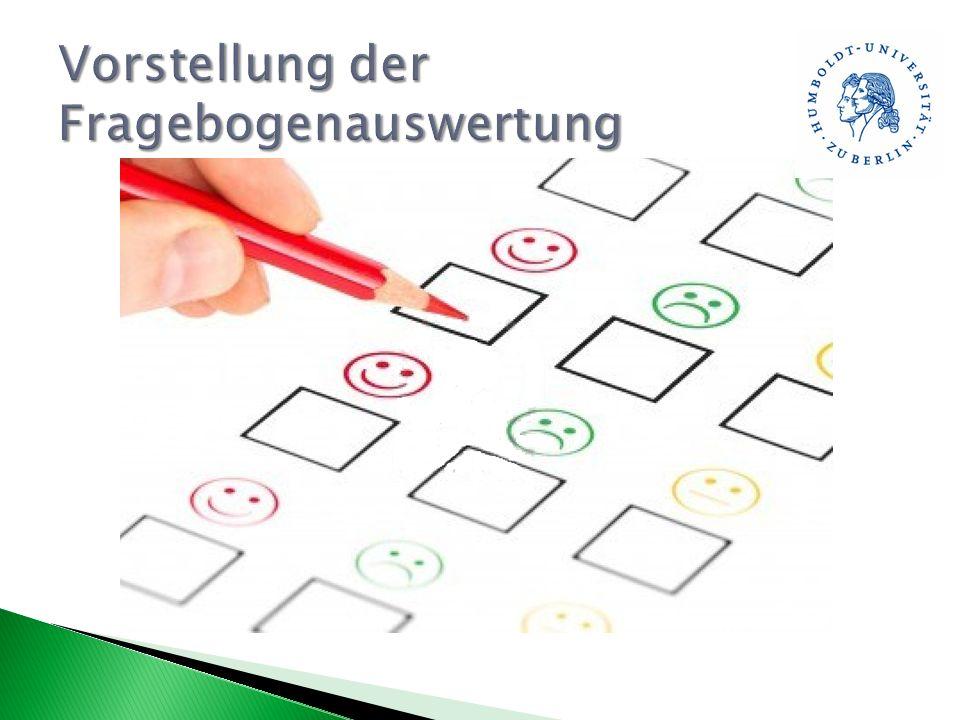 Vorstellung der Fragebogenauswertung