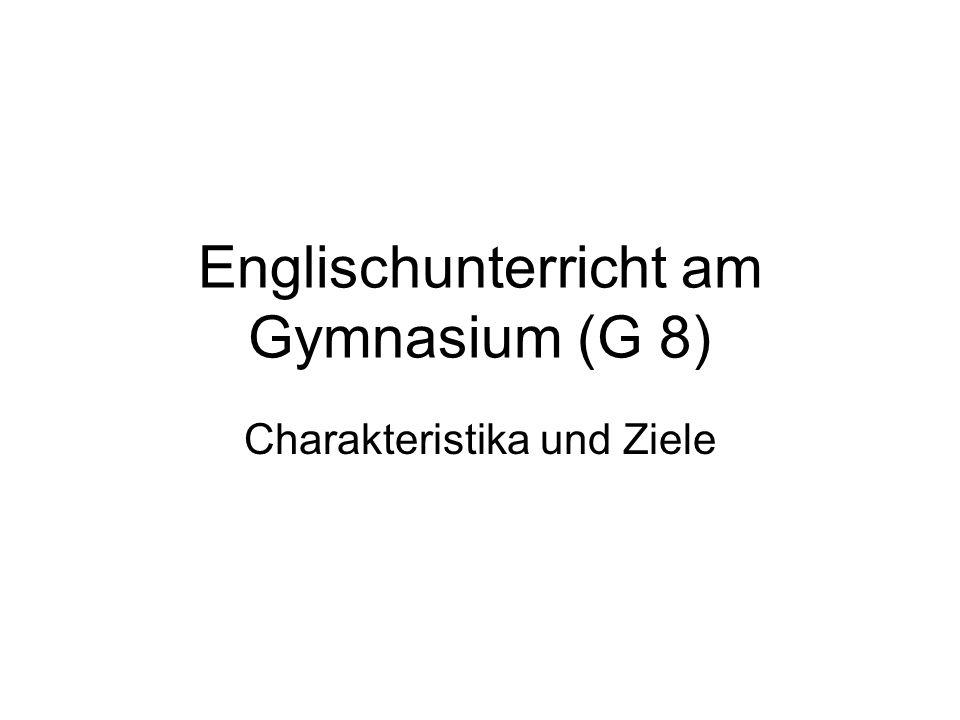 Englischunterricht am Gymnasium (G 8)