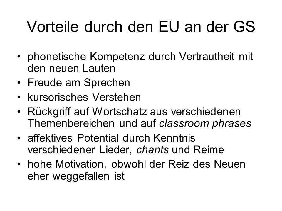 Vorteile durch den EU an der GS