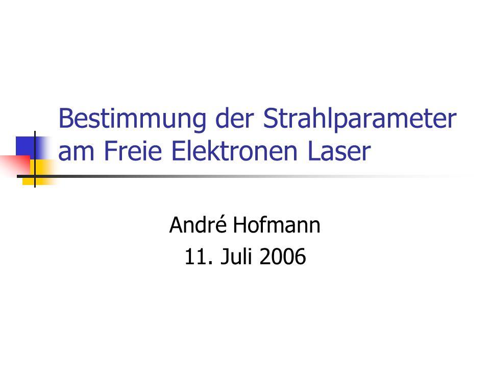Bestimmung der Strahlparameter am Freie Elektronen Laser