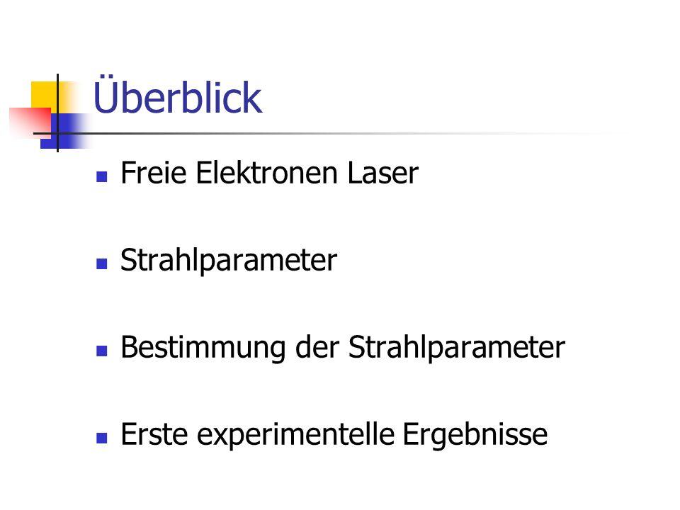 Überblick Freie Elektronen Laser Strahlparameter