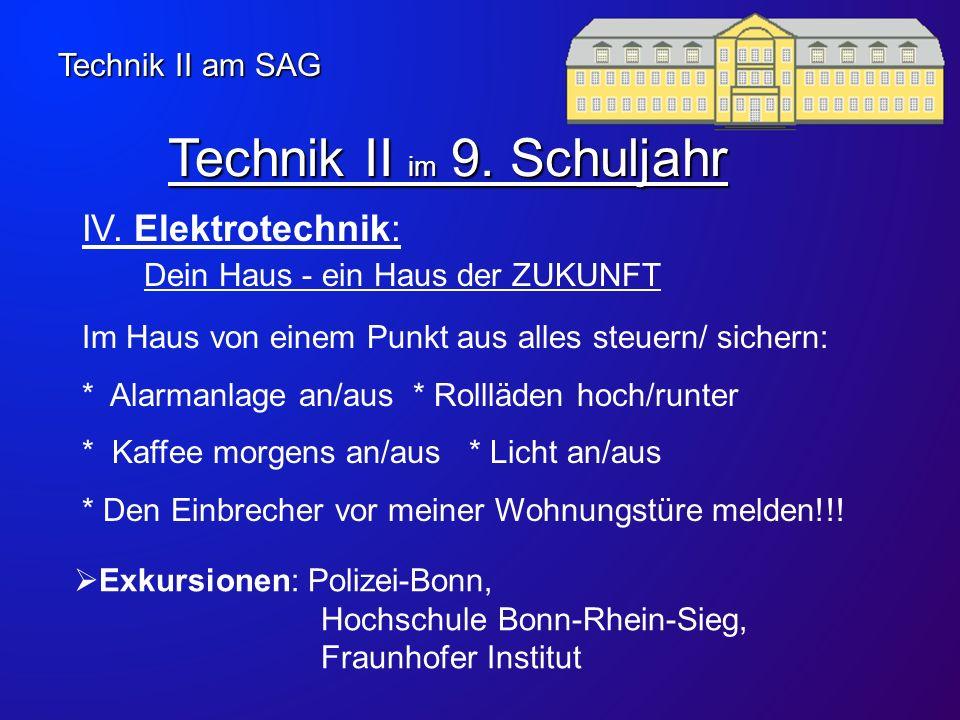 Technik II im 9. Schuljahr