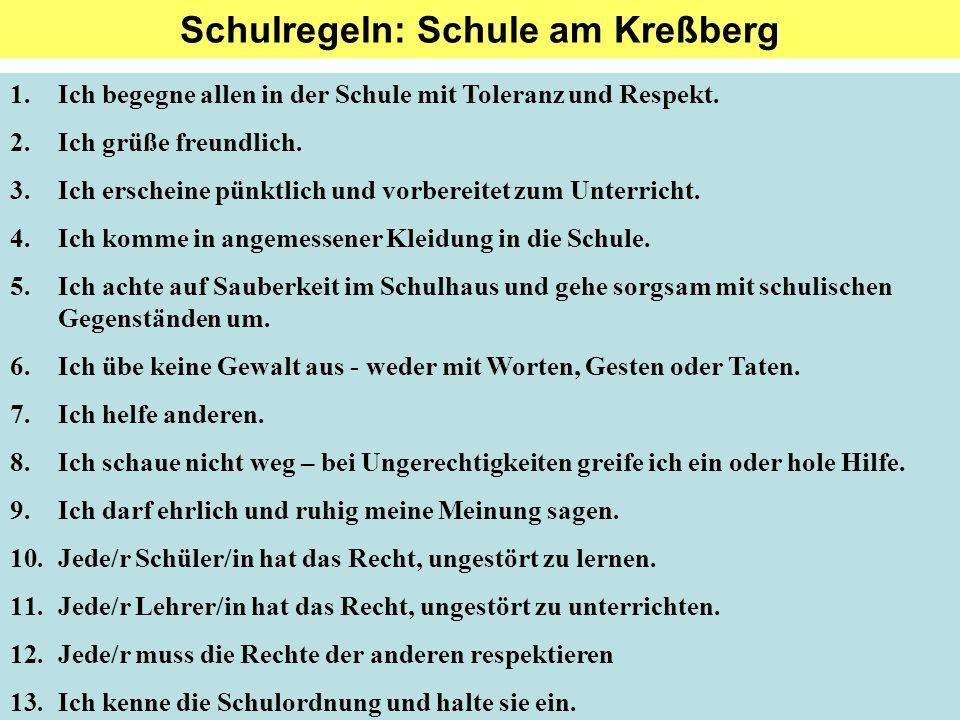 Schulregeln: Schule am Kreßberg