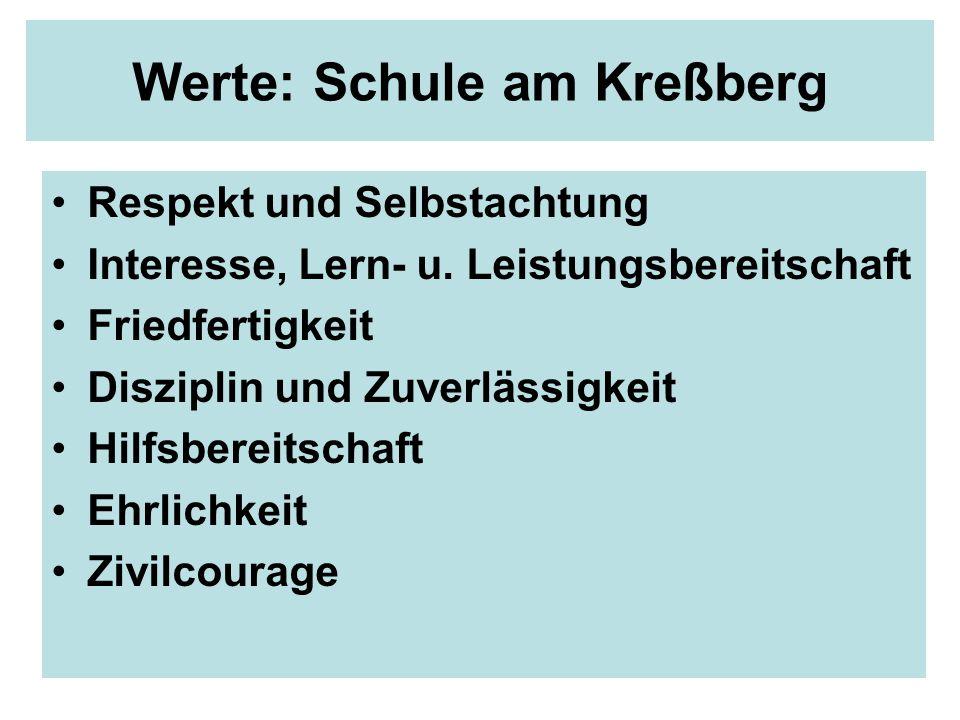 Werte: Schule am Kreßberg