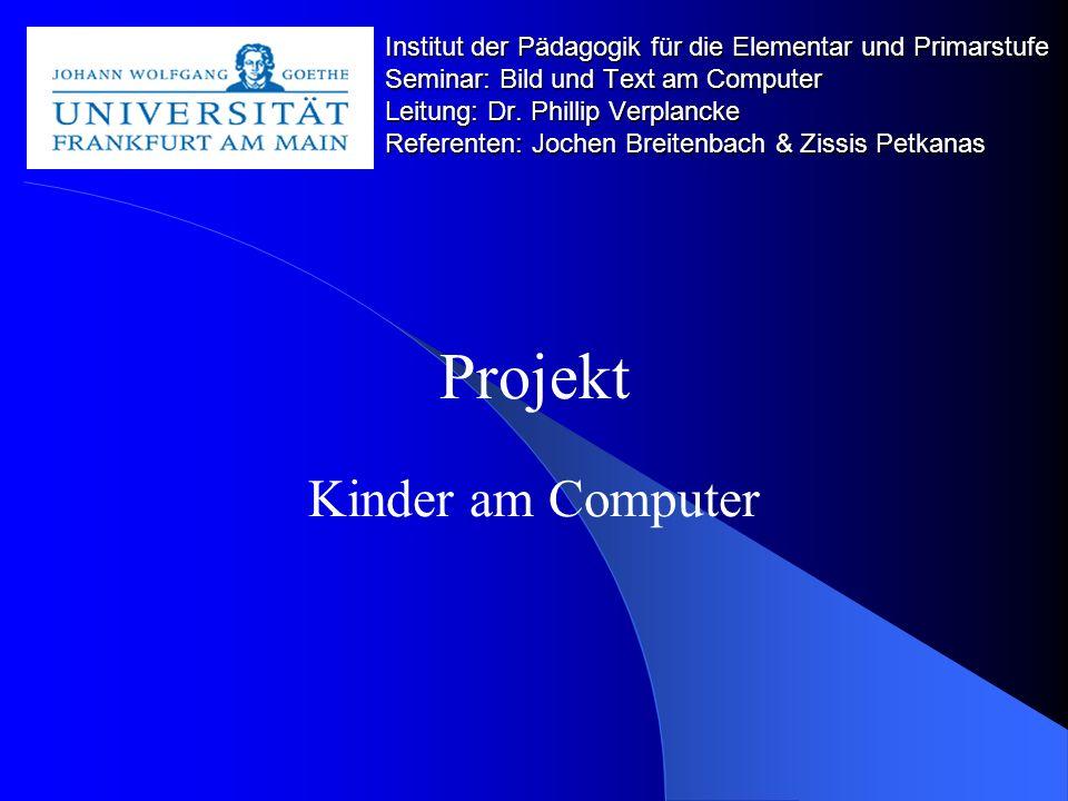 Projekt Kinder am Computer