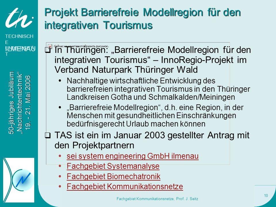Projekt Barrierefreie Modellregion für den integrativen Tourismus