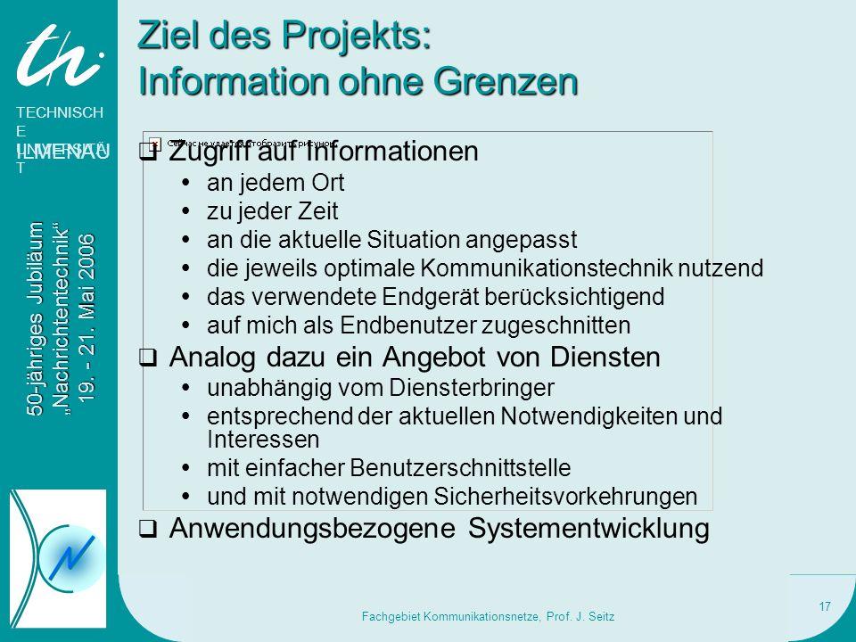 Ziel des Projekts: Information ohne Grenzen