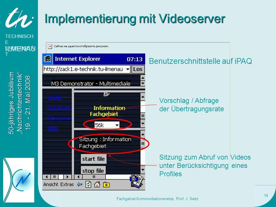 Implementierung mit Videoserver