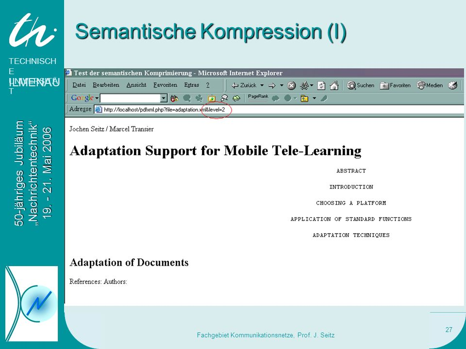 Semantische Kompression (I)