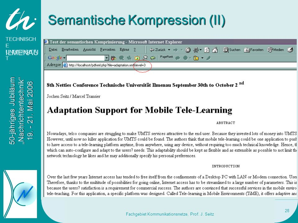 Semantische Kompression (II)