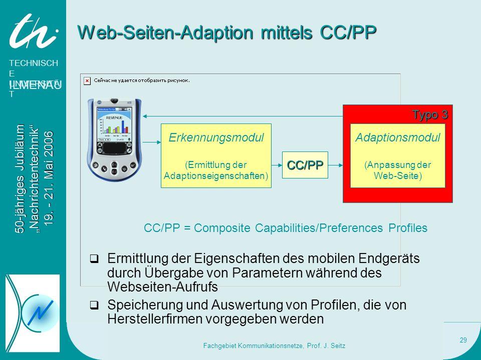 Web-Seiten-Adaption mittels CC/PP