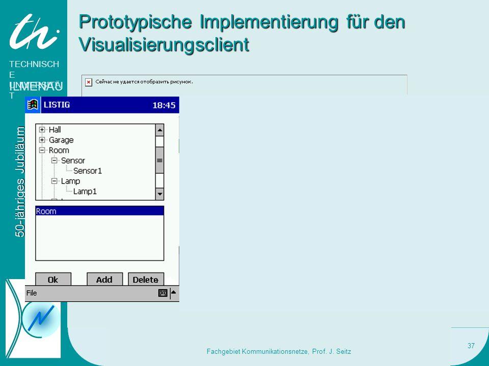 Prototypische Implementierung für den Visualisierungsclient