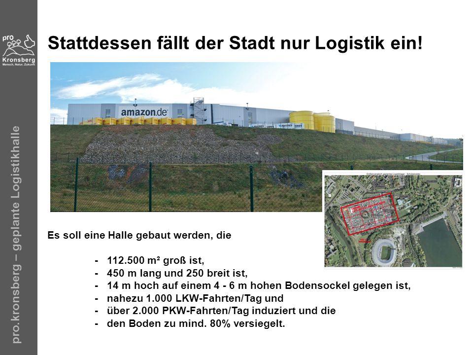 Stattdessen fällt der Stadt nur Logistik ein!