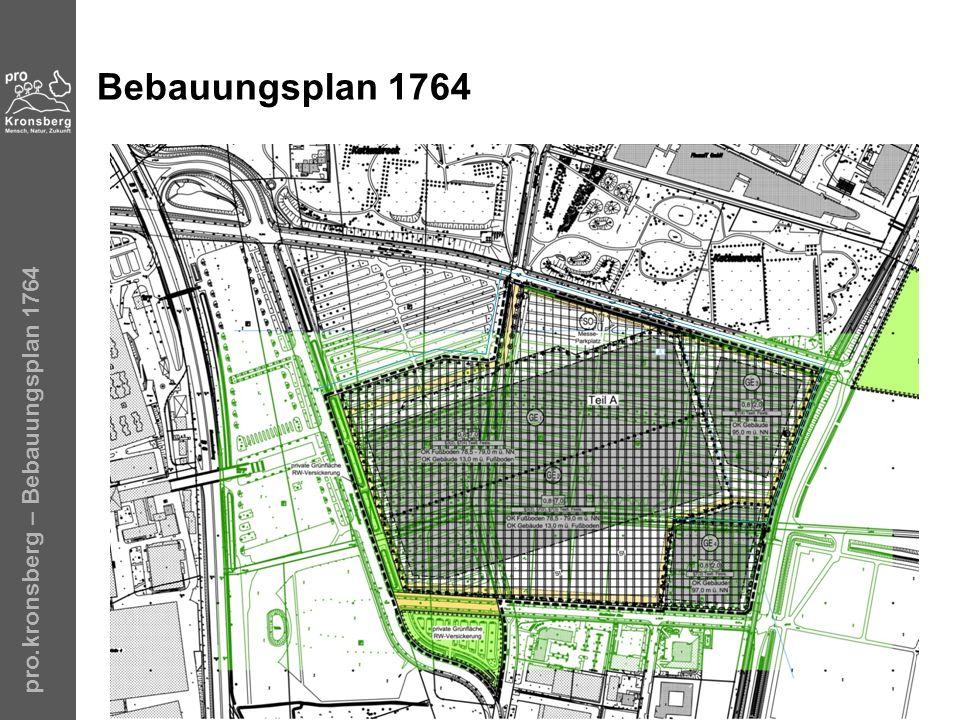 Bebauungsplan 1764 pro.kronsberg – Bebauungsplan 1764