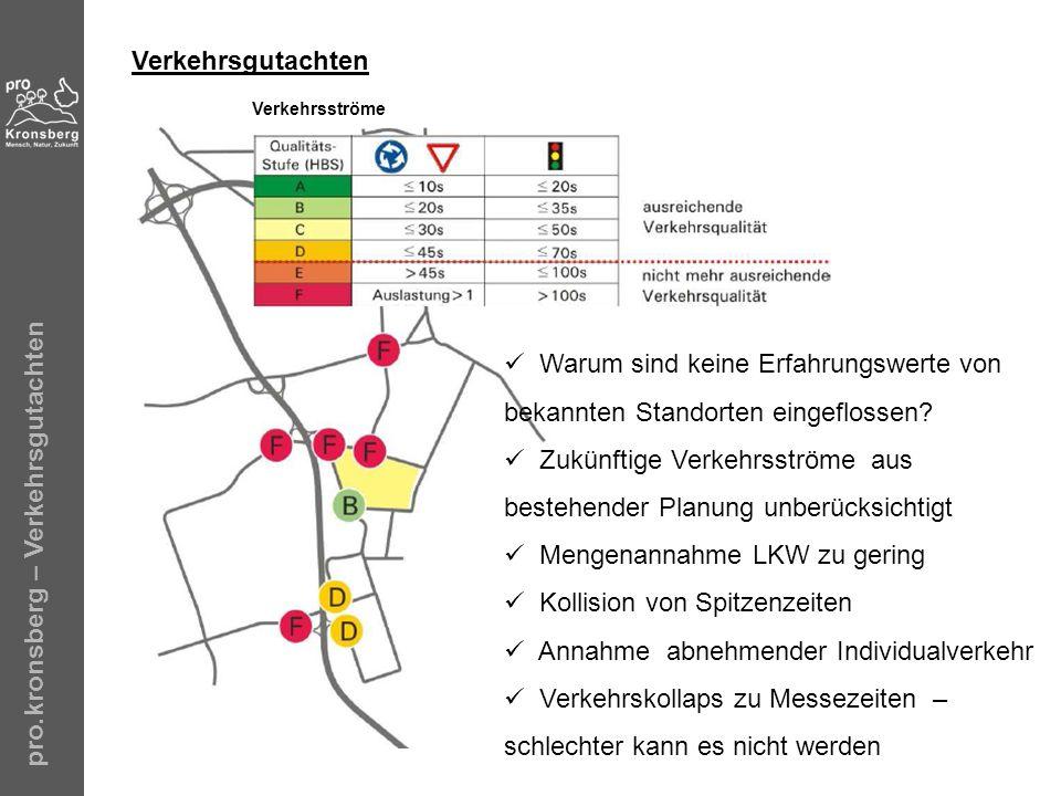 Zukünftige Verkehrsströme aus bestehender Planung unberücksichtigt