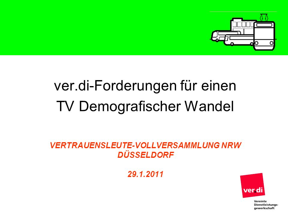 Vertrauensleute-Vollversammlung NRW Düsseldorf 29.1.2011