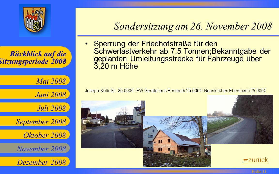 Sondersitzung am 26. November 2008