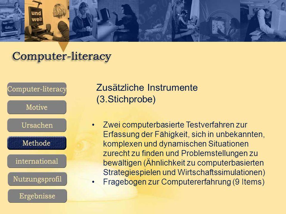 Zusätzliche Instrumente (3.Stichprobe)