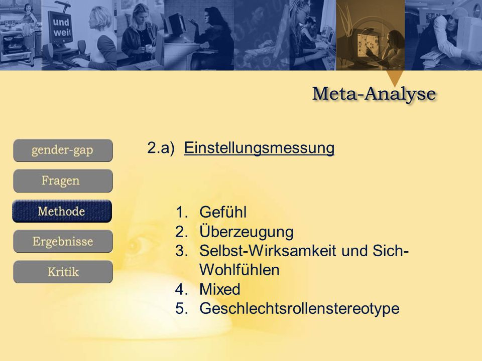 2.a) Einstellungsmessung