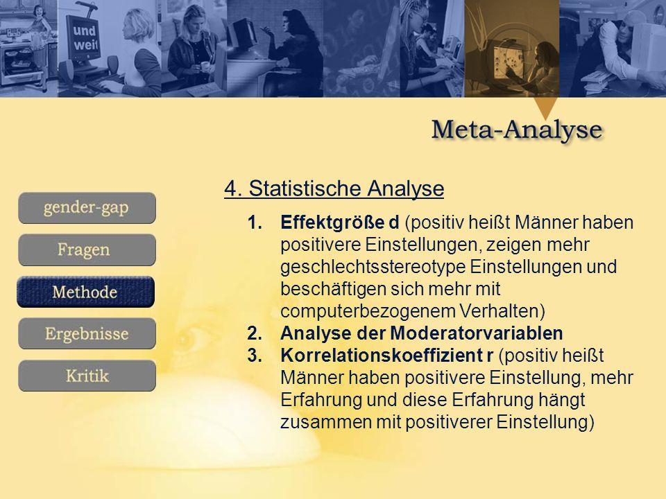 4. Statistische Analyse