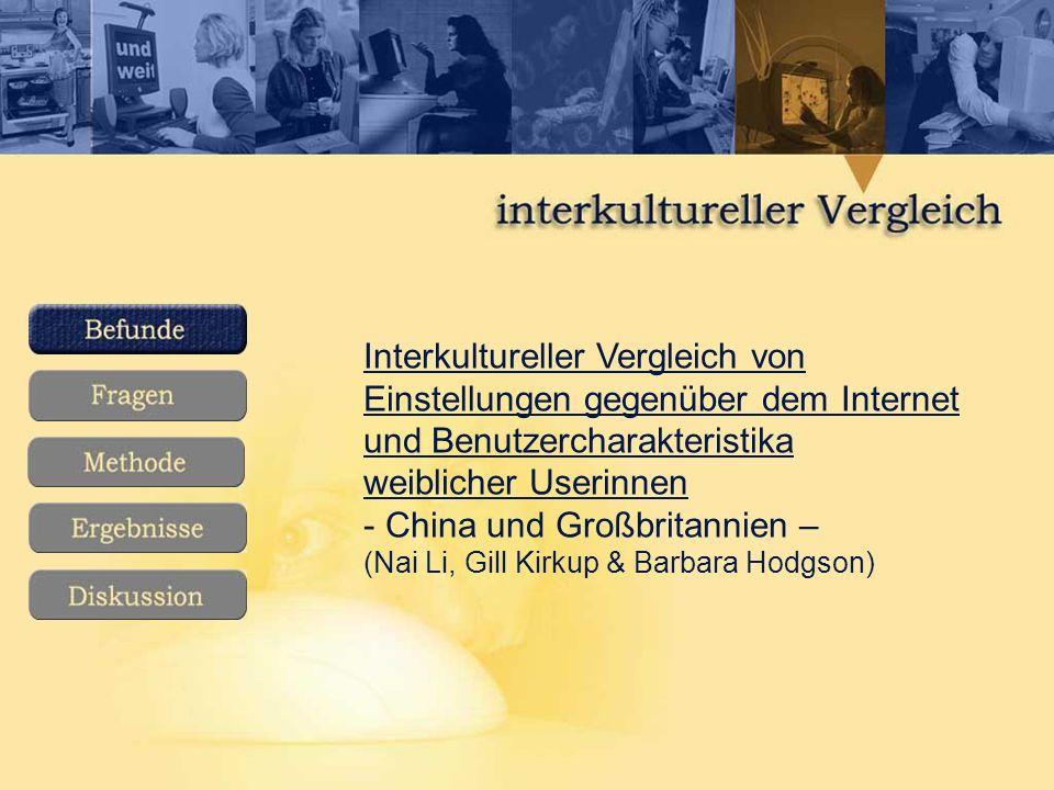 Interkultureller Vergleich von Einstellungen gegenüber dem Internet