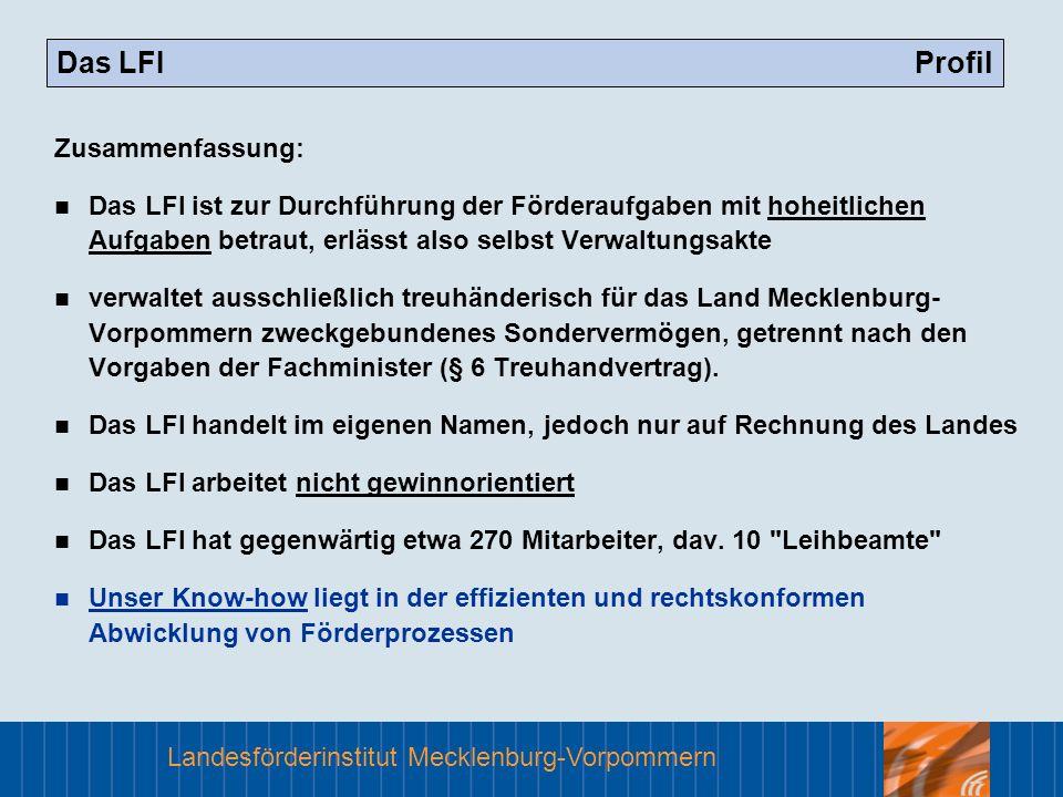 Das LFI Profil Zusammenfassung: