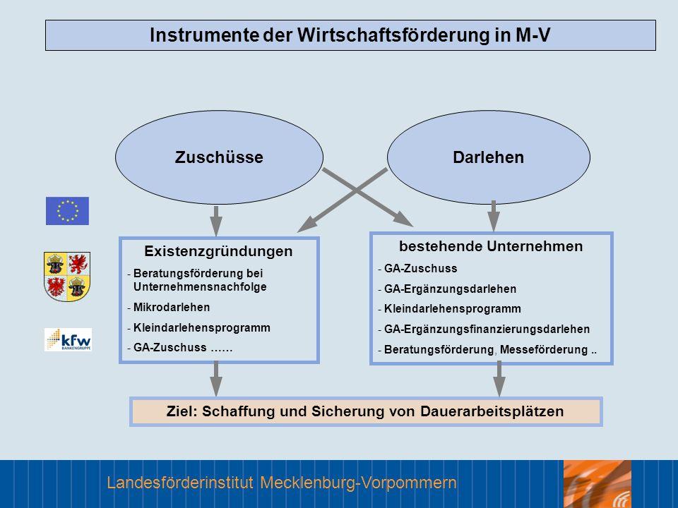 Instrumente der Wirtschaftsförderung in M-V